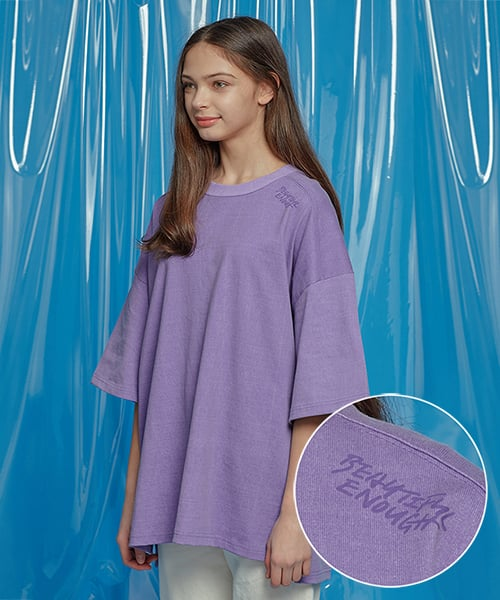 모티브스트릿(MOTIVESTREET) VENT PIGMENT OVERSIZED TEE PURPLE