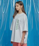 모티브스트릿(MOTIVESTREET) DAILY EMBO POINT OVERSIZED TEE WHITE