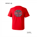 모노파틴(MONOPATIN) night light maze octagon scotchlite  t shirt – red