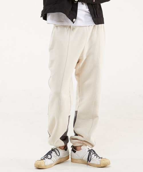 에스에스알엘(SSRL) calf sweat pants / cream