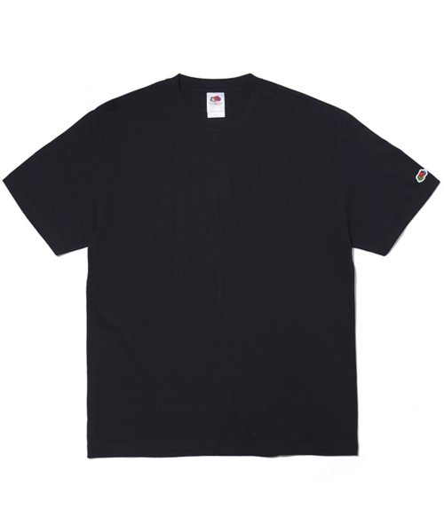 프룻오브더룸(FRUIT OF THE LOOM) (REGULAR FIT) 210g WAPPEN T-SHIRTS BLACK