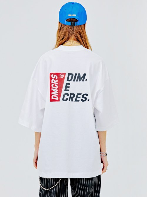 딤에크레스(DIM. E CRES) DMCRS boarding graphic T-shirts_white
