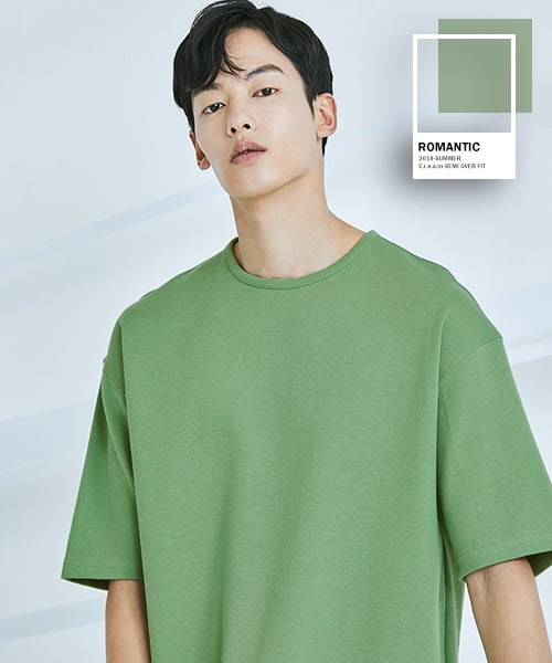로맨틱 파이어리츠(ROMANTICPIRATES) C.r.e.a.m SEMI OVER FIT T-SHIRT(SMOKE GREEN)