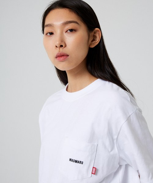 매드마르스(MADMARS) NORMAL POCKET T-SHIRT_WHITE