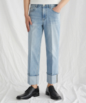 가먼트레이블(GARMENT LABLE) Denim Roll-up Pants - Light Blue