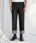 가먼트레이블(GARMENT LABLE) Denim Roll-up Pants - Black