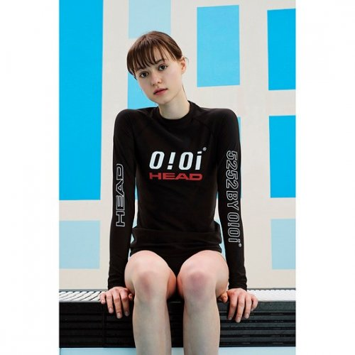 헤드(HEAD) [HEADX5252  by o!oi ] LOGO  BASIC  RASH GUARD(WOMAN)_JOQJH19201BKX