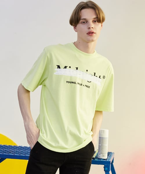 미드나잇 무브(MIDNIGHT MOVE) [unisex] 페인트  T (light yellow)