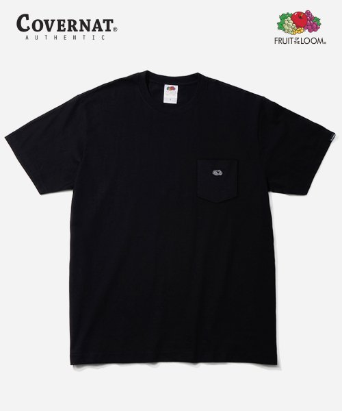 커버낫(COVERNAT) [COVERNAT  X FTL] 1PACK 210g POCKET TEE BLACK