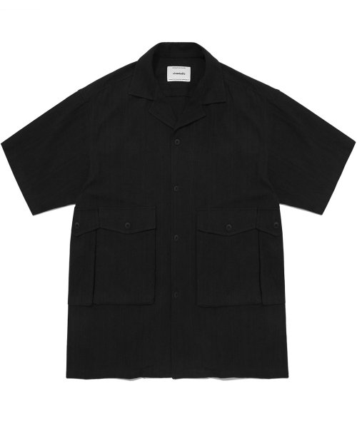비바스튜디오(VIVASTUDIO) UTILITY SHIRTS IS [BLACK]