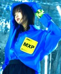 "씨오엠이(COME) [UNISEX] ""MXP"" Leather Pocket Shirt (Blue)"