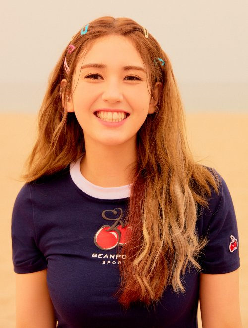 빈폴 스포츠(BEANPOLE SPORT) [BPS X KIRSH] HEART CHERRY CROPPED T-SHIRT - Navy (BO9542W02R)