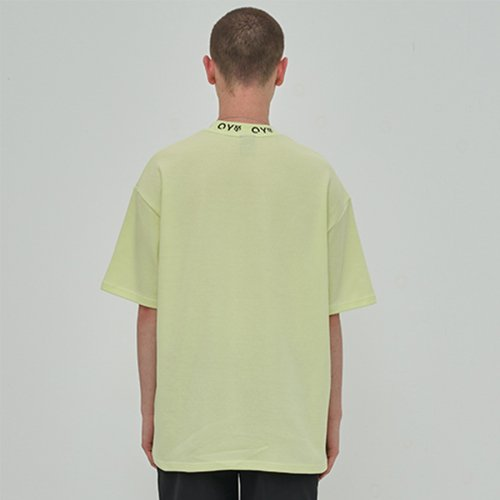 오와이(OY) LOGO CREW NECK T - LIME
