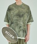 벨리에() Water Print T-Shirt - Green