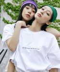 맥앤칩스(MCNCHIPS) SLOGAN TEE WHITE