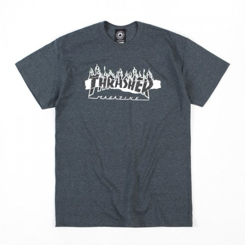 쓰레셔(THRASHER) Ripped Tee - Dark Heather
