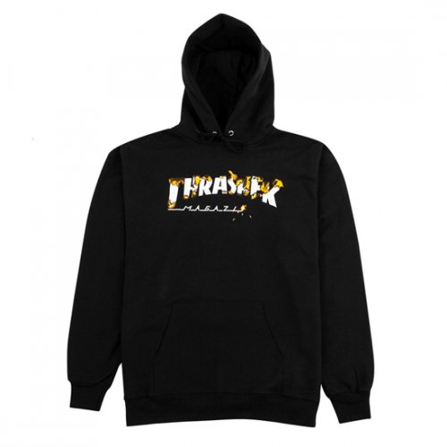 쓰레셔(THRASHER) Intro Burner Hood - Black