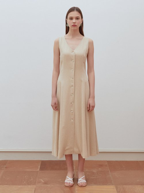 로지에(ROSIER) 19summer side corset dress beige