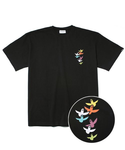 마크 곤잘레스(MARK GONZALES) M/G SMALL MULTI ANGEL T-SHIRTS BLACK