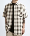 쟈니웨스트(JHONNY WEST) Half.Tan Check Shirts (NV/Cream)