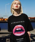 매드마르스(MADMARS) OVER LIP T-SHIRTS_BLACK