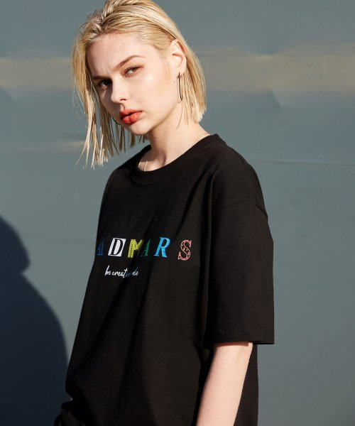 매드마르스(MADMARS) COLOR LOGO T-SHIRTS_BLACK