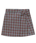 아파트먼트() (W) CHECK WARP SKIRT - ORANGE