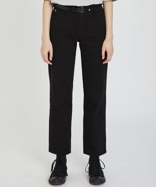 매치글로브(MATCHGLOBE) MG9S DENIM STRAIGHT PANTS (BLACK)