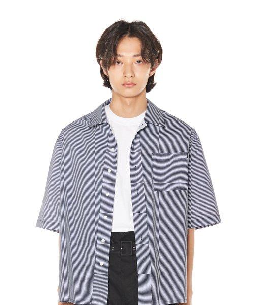 참스(CHARM'S) CHARMS STRIPE HALF SHIRTS
