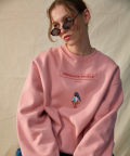 type A.[DISNEYxOP] :-P donald duck pink sweat shirt