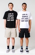 심플() Life Is Simple T-shirt White
