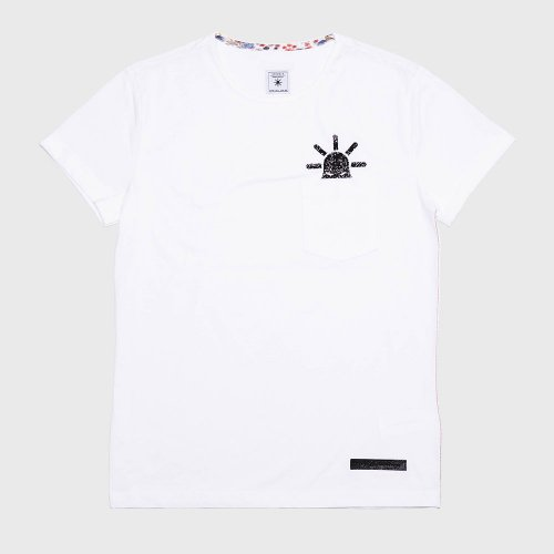 모빈스알(MOVINS.R) PENNA TAP(Take a Peep)  SHORT TEE WHITE