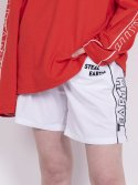 스틸어스(STEALEARTH) embroidery piping shorts pants(white)