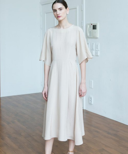 논로컬(NONLOCAL) Bell silhouette Dress - Beige