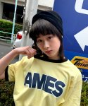 아메스 월드와이드(AMES-WORLDWIDE) CARTOON LOGO RINGER T-SHIRTS