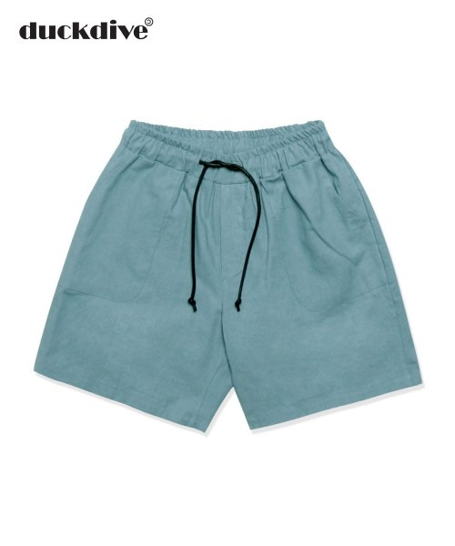 덕다이브(DUCKDIVE) BASIC LINEN HALF PANTS SKY BLUE