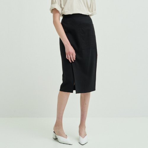 코르카(CORCA) Linen Ecru Pocket Skirt
