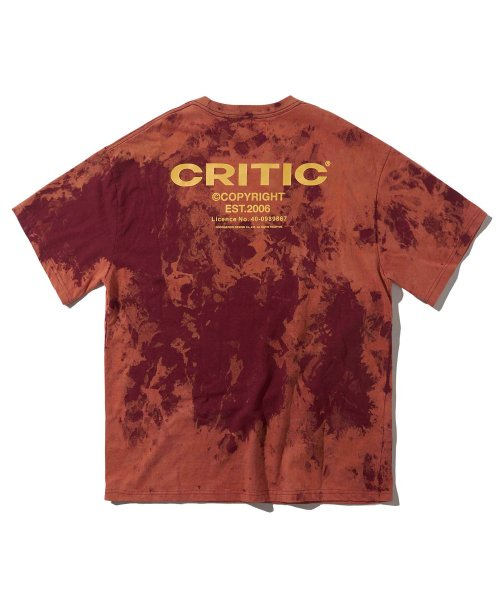 크리틱(CRITIC) BACKSIDE LOGO T-SHIRT(BURGUNDY)_CTONURS26UP3