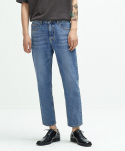 퍼스트플로어() EASYGOING CROP PANTS (regular fit   mid blue)