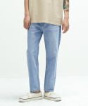 퍼스트플로어(FIRSTFLOOR) EASYGOING CROP PANTS (regular fit   light blue)