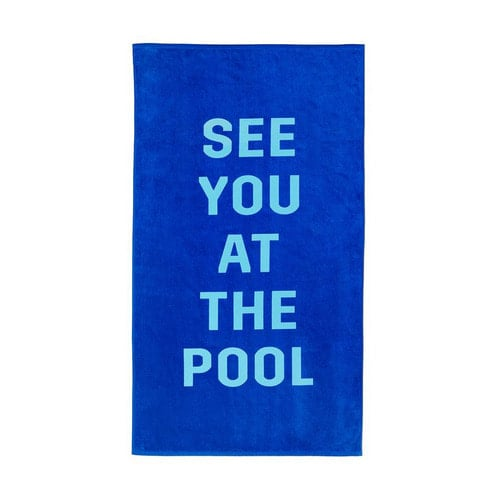 밴도(BAN.DO) BEACH PLEASE GIANT TOWEL-see you at the pool