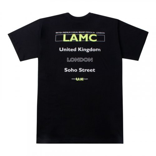 라모드치프(LAMODECHIEF) LAMC FILL LOGO OVERFIT SHORT SLEEVE (BLACK)