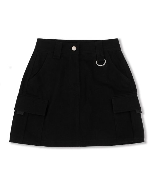 하이스쿨디스코(HIGH SCHOOL DISCO) Cargo Skirt_black