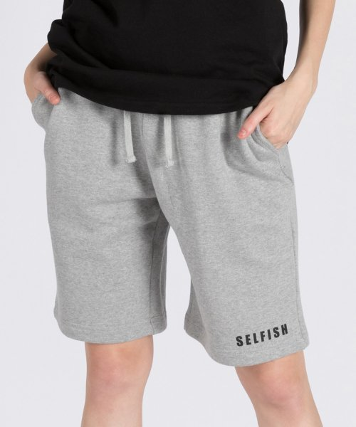 셀피쉬(SELFISH) LOGO PRINT BASIC SHORT PANTS (SAM3SP01) (GREY)