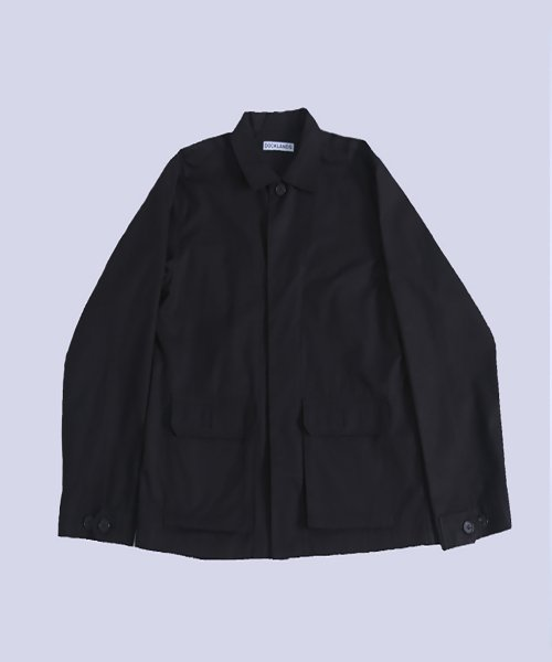 도클랜드(DOCKLANDS) TWO POCKET SHIRKET (BLACK)