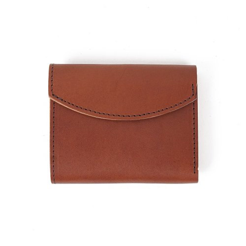몰라이브(MOLLIVE) Tochigi Leather Compact Wallet Brown