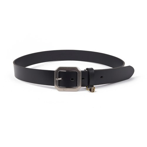 몰라이브(MOLLIVE) Garcon Leather Belt Black