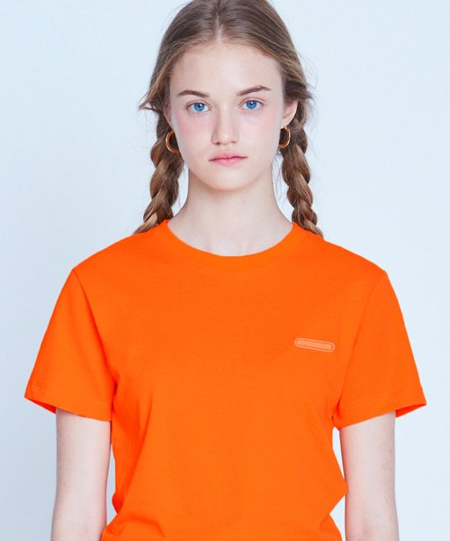매치글로브(MATCHGLOBE) MG9S COLOR POINT CROP TEE (ORANGE)