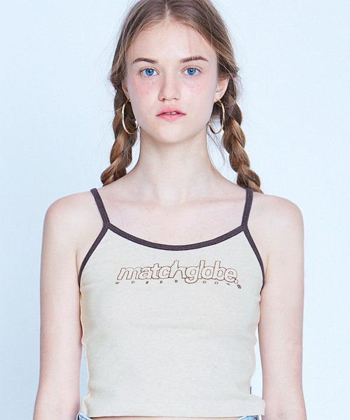 매치글로브(MATCHGLOBE) MG9S OUTLINE SLEEVELESS (OATMEAL)