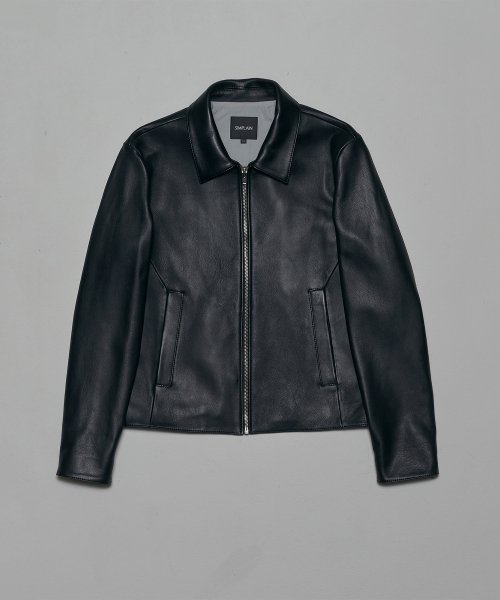 심플레인(SIMPLAIN) Lambskin single rider jacket [black]